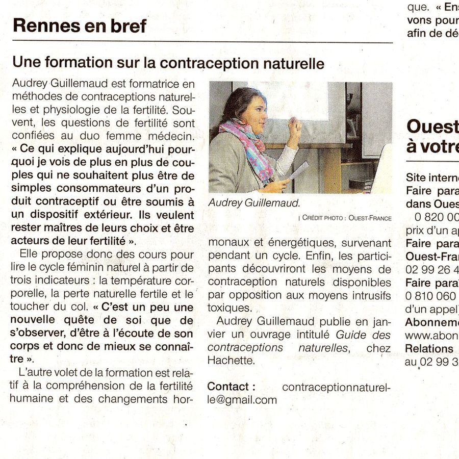 Audrey Guillemaud OUEST FRANCE 2019